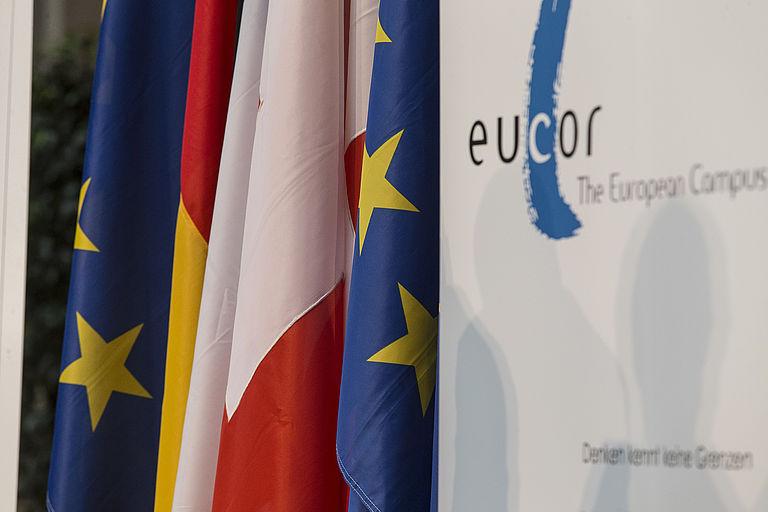 Eucor: Flaggen beteiligter Länder
