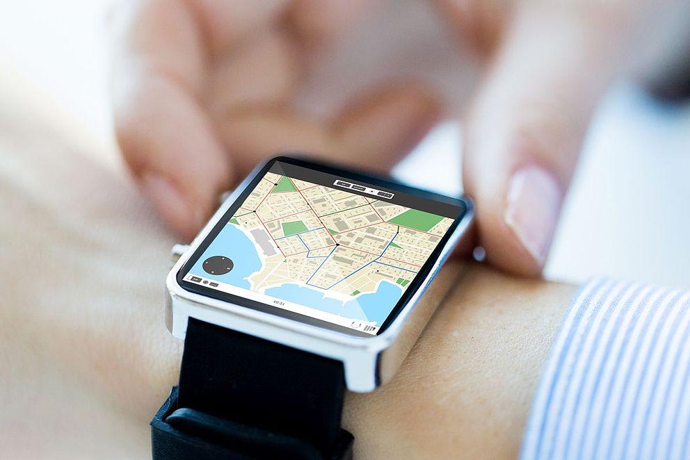 Smart Watch mit Landkarte