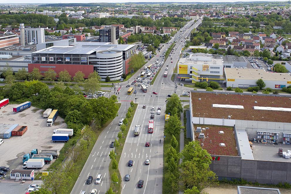 Verkehrsführung an der sogenannten DEZ-Kreuzung