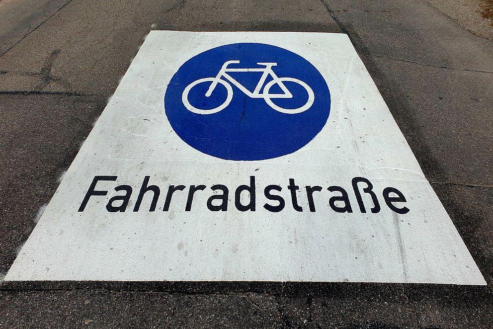 Fahrradwegschild
