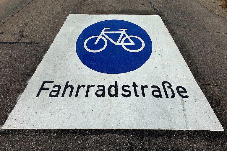 Fahrradstraßenschild