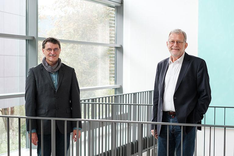 Prof. Dr. Sauer und Prof. Dr. Freitag
