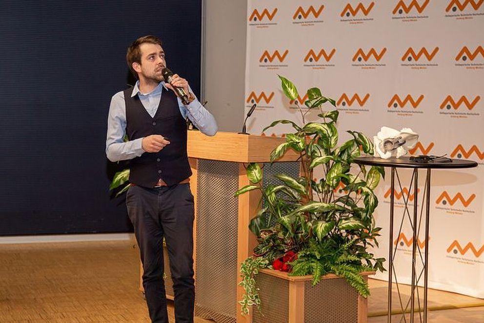 M.Sc. Christopher Fleischmann im Siemens Innovatorium