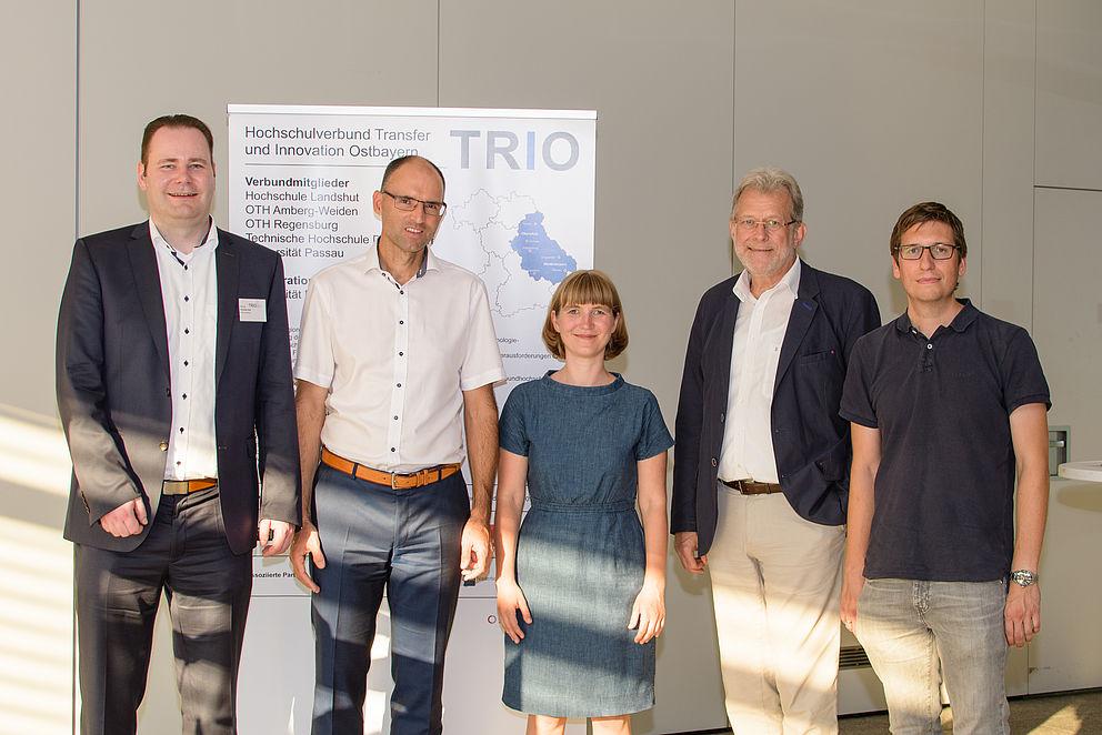 Vertreter des TRIO Projekts